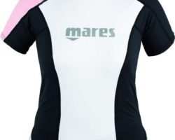 Rash Guard Loose Fit Short Sleeve She Dives pink